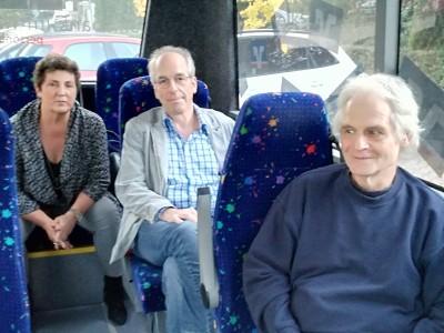 Anja Piel, Michael Ebbecke und Ludwig Krückeberg im Bürgerbus
